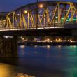 Portland Bridge at Night — Stockfoto