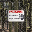 High Voltage Sign — Stockfoto #33857175