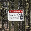 High Voltage Sign — Stockfoto