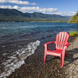 Adirondack Chair by Lake — Stockfoto