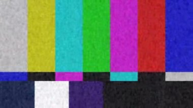 Color Bar Test Pattern — Stock Video