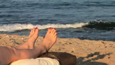 Sandy Toes — Stock Video #34318915