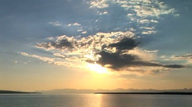 Clouds over Yellowstone Lake, Yellowstone National Park, time lapse