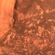 Stock Video: Newspaper Rock, Petoglyphs