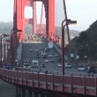 Golden Gate Bridge, View of San Francisco — Stock Video