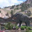 Stock Video: Mammoth Statue