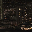 Stock Video: Honolulu Skyline at night