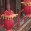 Stock Video: Swaying Red Chinese Lanterns
