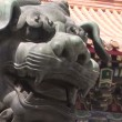 Stock Video: Lion Statue at LamTemple