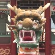 Stock Video: Dragon Architectural Detail