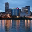 Downtown Portland and the Willamette River — Stock Video