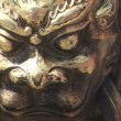Stock Video: Lion Head Detail on Chinese Pot