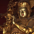Stock Video: Golden Statue, LamTemple