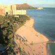 Stock Video: Waikiki Beach with Diamond Head