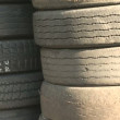Tower of Old, Used Tires — Stock Video #34326225