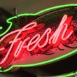 Neon Fresh Fish Sign — Stock Video