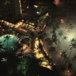 Stock Video: Waikiki at night