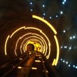 China, Shanghai, The Bund, Bund sightseeing tunnel, slow shutter speed — Stock Video #34327483