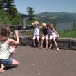 图库视频影像: Family Portrait along the Columbia River Gorge