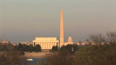 U.S. Capitol, Washington Monument, & Lincoln Memorial — Stock Video