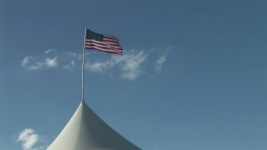 American Flag Waving in the Wind — Stok video