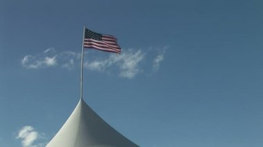 American Flag Waving in the Wind — Vídeo de stock