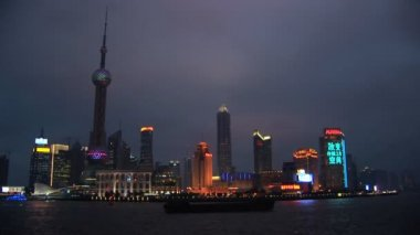 Shanghai, Pudong, Coming into Focus — Stock Video