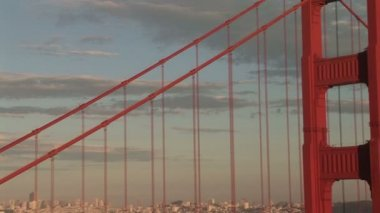 Golden Gate Bridge, View of San Francisco — Stock Video #34321851