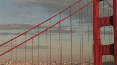 Golden Gate Bridge with a view of San Francisco, California, zoom out