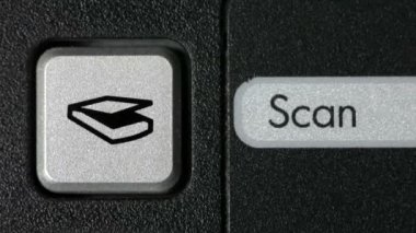 Scan Button — Stock Video