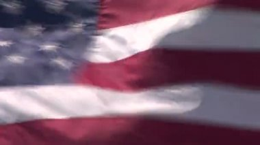 US flag texture — Stock Video