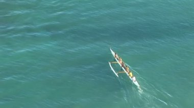 Hawaii outrigger — Stock Video