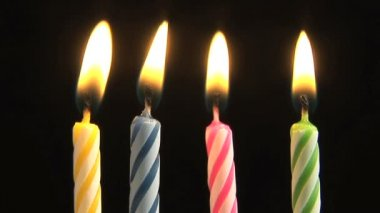 Birthday candles — Stock Video