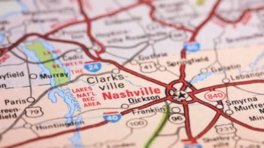 Map of Nashville, Tennessee — Stock Video