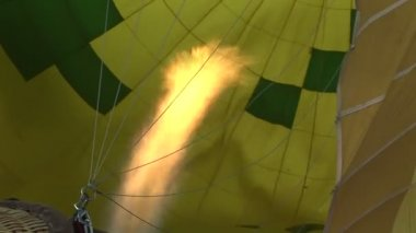 Flame inside a hot air balloon — Stock Video