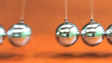 Close up of Newton's Cradle — Stock Video
