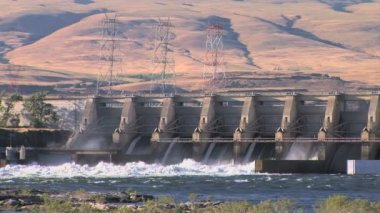 Dalles Dam — Stock Video
