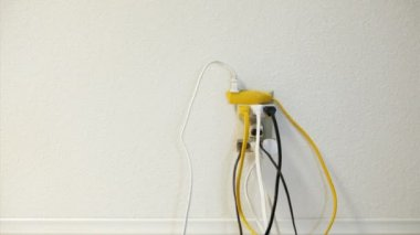 Overloaded Electrical Outlet — Stock Video