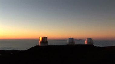 Telescope Observatory at Sunset — Stockvideo