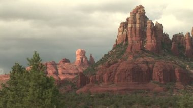 Sculpted Red Rock Formations of Sedona — Stock Video