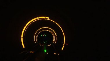 China, Shanghai, The Bund, Bund sightseeing tunnel, slow shutter speed — Stock Video
