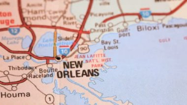 Map of New Orleans, Louisiana — Stock Video