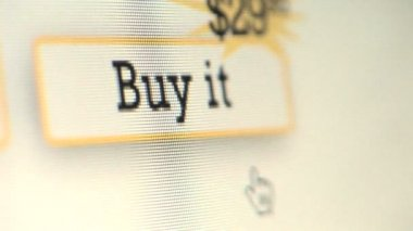 Cursor clicking on Buy It button — Stock Video