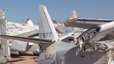 Airplane Boneyard — Stock Video