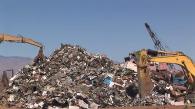Recycling Yard — Stock Video