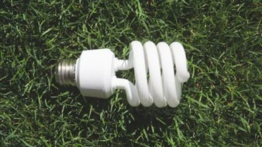 Energy saving light bulb — Stock Video