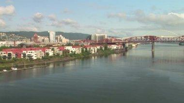 Portland, Oregon Bridge and Downtown View — Stock Video