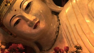 Reclining Buddha — Stok video