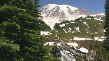 Alpine Hikers — Stock Video