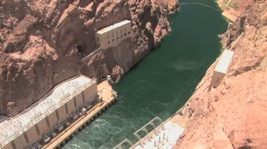 Colorado River and power generators — Stock Video